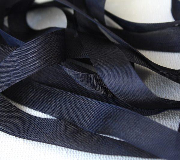 Шелковая лента 15 мм (black)