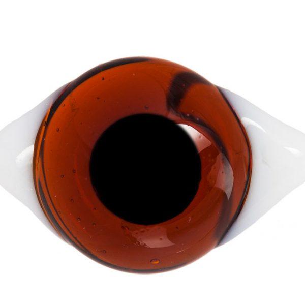 Глаза с белками Темно-коричневые