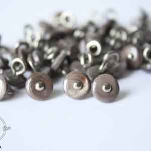 9 мм глазки-пуговки (серый)