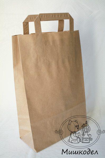Крафт-пакет с ручками 33*22*9 см