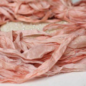 Лента ручного окраса Розовый персик