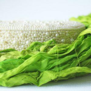 Лента ручного окраса (салатовый)
