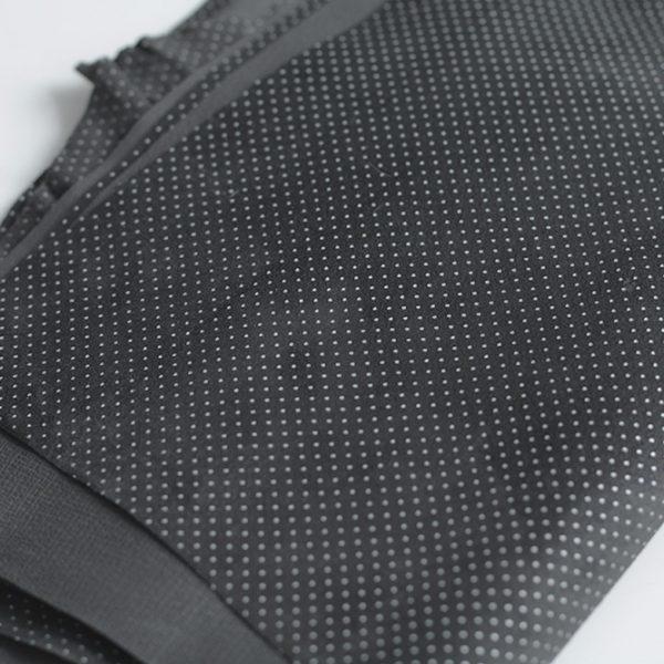 Замша натуральная Z71 Горошек на черном